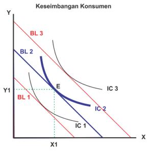 Keseimbangan konsumen dalam teori perilaku konsumen